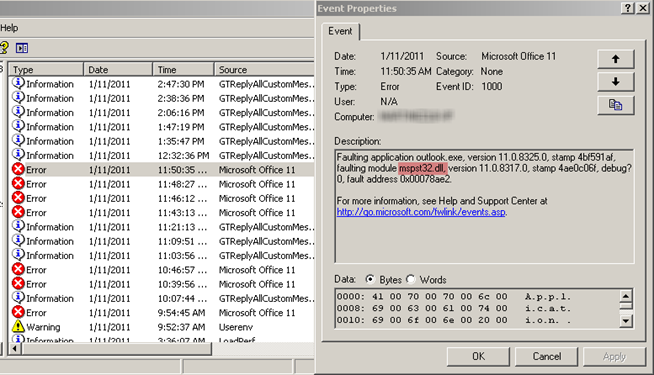 A Faulting Module Is Not A Broken Module « Windows Explored