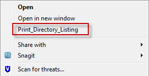 Printing Directory & File Lists In Windows 7 « Windows Explored