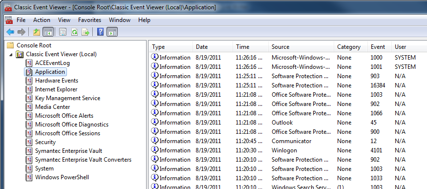 Get the XP Event Viewer in Windows Vista\7 « Windows