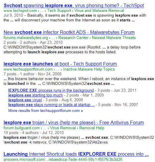 A More Reasonable Explanation For Why You Sometimes See The Windows Service Host Hosting Iexploreexe Is Because Likely Have Launched IE Via URL
